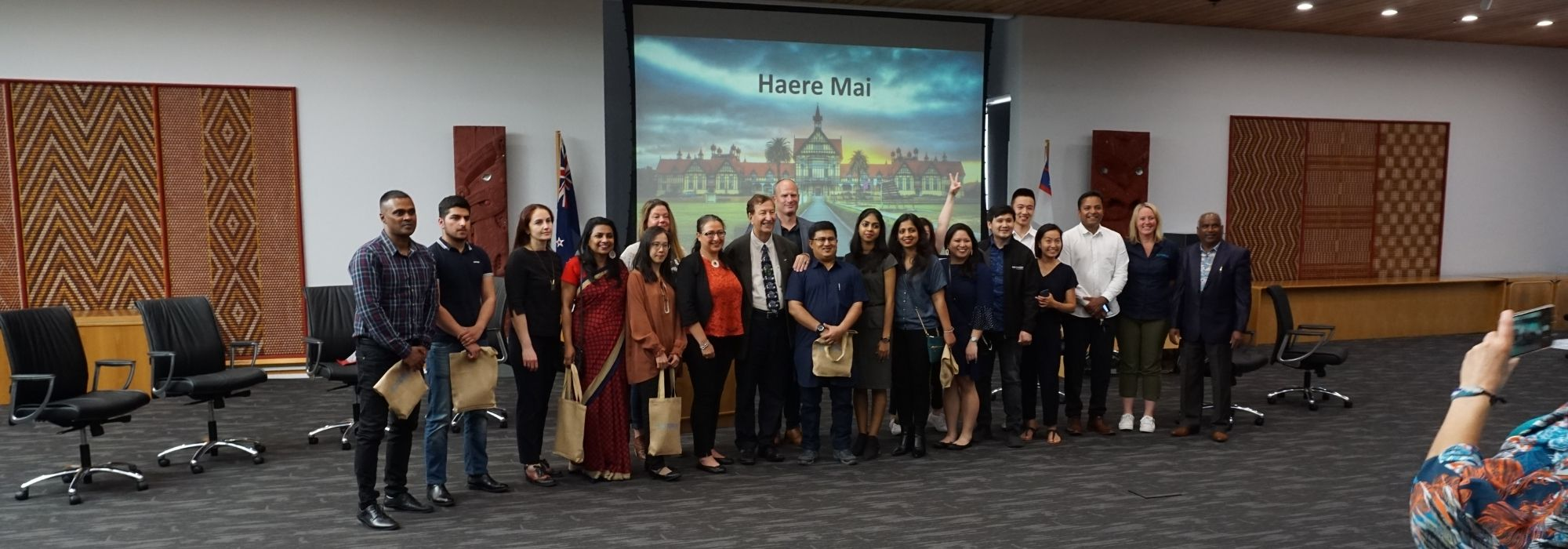 Christmas event celebrates and supports city's international students